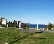 View at entrance St. Thomas of Villa Nova Cemetery, 2696 Tosail Road, Topsail, Conception Bay South, Photo taken August 2006; Kim Barnes, Town of Conception Bay South, 2007