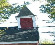 St. John's Anglican Church, Moschelle, N.S., bell tower with shiplap siding, 2009.; Heritage Division, NS Dept. of Tourism, Culture and Heritage, 2009