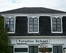 The Paradise School, Paradise, N.S., concave mansard roof, 2009.; Heritage Division, NS Dept. of Tourism, Culture and Heritage, 2009