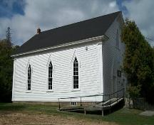 Albany Community Church, Albany Cross, N.S., southeast elevation, 2009.; Heritage Division, NS Dept. of Tourism, Culture and Heritage, 2009