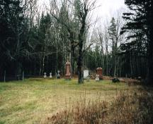 Showing context of Stewart family plot; PEI Genealogical Society, 2006