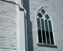 Emmanuel United Church, Granville Ferry, N.S., pointed Gothic window, 2009.; Heritage Division, NS Dept. of Tourism, Culture and Heritage, 2009