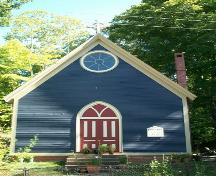 Old St. Alban's Church, Lequille, N.S., front elevation, 2009.; Heritage Division, NS Dept. of Tourism, Culture and Heritage, 2009