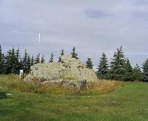 Close-up view, showing the erratics of the Rock, 2004.; Government of Saskatchewan, Jennifer Bisson, 2004.