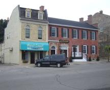 Of note is the building's position in the commercial streetscape of downtown Goderich.; Kayla Jonas, 2007.