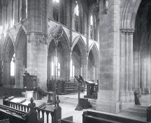Anglican Cathedral, interior view, date and photographer unknown, possibly pre-20th century.; Centre for Newfoundland Studies photo 2.02.009