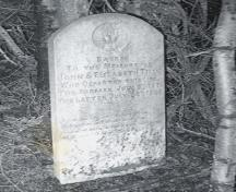Photo of John and Elizabeth Tilley headstone at Shoal Harbour Methodist Cemetery, Shoal Harbour, Clarenville, NL, circa 2007. ; Clarenville Heritage Society Inc. 2008