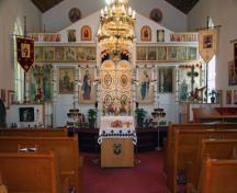 Interior view of St. Michael's Ukrainian Orthodox Church, Winnipeg, 2009; Historic Resources Branch, Manitoba Culture, Heritage and Tourism, 2009