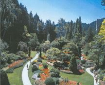General view Butchart Gardens, showing the Sunken Garden, 2004; Agence Parcs Canada/Parks Canada Agency, M. Trépannier, 2001.