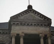 "Featured is the pedimented portico inscribed with ""Public Library"" and ""A.D. 1904"".; Martina Braunstein, 2007."