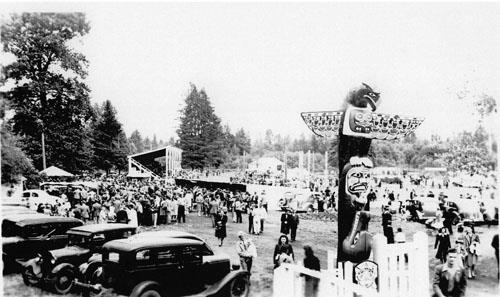 View of fairgrounds, ca. 1940