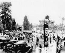 Historic view of Lewis Park; City of Courtenay, 1940