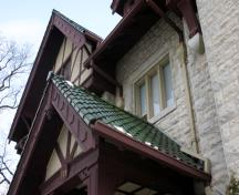 Wall and roof detail of Khartum Temple (J.H. Ashdown House), Winnipeg, 2006; Historic Resources Branch, Manitoba Culture, Heritage and Tourism, 2006