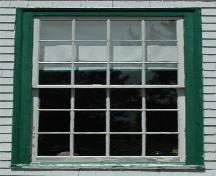 Side window detail, Cape George Heritage School Museum, Cape George, Nova Scotia, 2009.; Heritage Division, N.S. Dept. of Tourism, Culture and Heritage, 2009