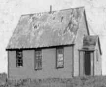 Upper Gullies United Church, circa 1935. Some of the church's foundation stones are still visible at Upper Gullies United Church Cemetery, Upper, Gullies, Conception Bay South, NL. Photo taken circa 1935. ; Upper Gullies United Church Cemetery Committee 2009