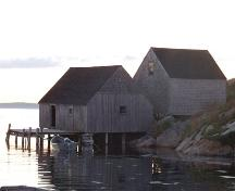 York Manuel Fish Shed and Store from the main road in Peggy's Cove; Heritage Division, NS Dept. of Tourism, Culture and Heritage, 2008
