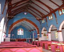 View of nave and chancel.; Government of Saskatchewan, Calvin Fehr, 2004.