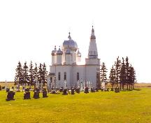 View of St. Michael's Greek Orthodox Church and surrounding grounds, 2004.; Government of Saskatchewan, James Winkel, 2004