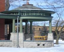 Featured is the veranda bandshell with fretwork, conical roof and finial.; Paul Dubniak, 2008.