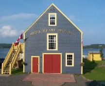 Front elevation, Jost's Wharf Building, Guysborough, NS; Heritage Division, NS Department of Tourism, Culture and Heritage, 2009