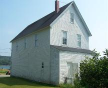 Rear elevation, Stormont Masonic Lodge, Isaac's Harbour, NS; Heritage Division, NS Dept. of Tourism, Culture and Heritage, 2009