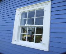 Window detail, New Jerusalem Farm on McNutt's Island, Nova Scotia; Heritage Division, NS Dept. of Tourism, Culture and Heritage, 2009