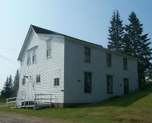 Front and west elevations, Laurel Rebekah Lodge, Goldboro, NS; Heritage Division, NS Dept. of Tourism, Culture and Heritage, 2009