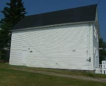 East elevation, Laurel Rebekah Lodge, Goldboro, NS; Heritage Division, NS Dept. of Tourism, Culture and Heritage, 2009