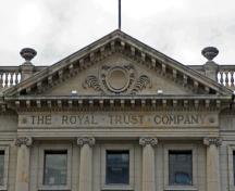 Pediment detail of the Bank of British North America, Winnipeg, 2007; Historic Resources Branch, Manitoba Culture, Heritage and Tourism, 2007