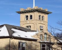 View of the tower of No. 12 Firehall, Winnipeg, 2006; Historic Resources Branch, Manitoba Culture, Heritage and Tourism, 2006