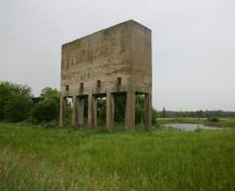 Primary elevation, from the southeast, of the Oak Point Quarry, Oak Point area, 2009; Historic Resources Branch, Manitoba Culture, Heritage and Tourism, 2009