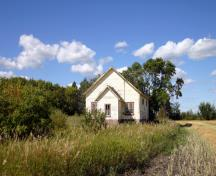 Primary elevation, from the south, of Ruskin School, Ethelbert area, 2007; Historic Resources Branch, Manitoba Culture, Heritage and Tourism, 2007
