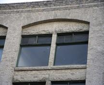 Detail view of the Gregg Building, Winnipeg, 2007; Historic Resources Branch, Manitoba Culture, Heritage and Tourism, 2007