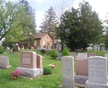 Of note is the close proximity of the graves to the church.; Paul Dubniak, 2008.