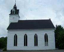 Side elevation, St. Thomas Church, Salmon River Lake, NS; Heritage Division, NS Department of Tourism, Culture and Heritage, 2009