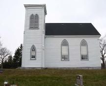 South elevation, Saint Stephen's Anglican Church, Tusket, NS; Heritage Division, NS Dept. of Tourism, Culture and Heritage, 2009