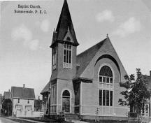Postcard image of church, c. 1910; Doug Murray, Postal Historian