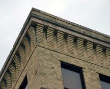 Detail view of the Great West Saddlery Building, Winnipeg, 2007; Historic Resources Branch, Manitoba Culture, Heritage and Tourism, 2007