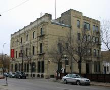 Secondary elevation, from the southwest, of the Massey Building, Winnipeg, 2006; Historic Resources Branch, Manitoba Culture, Heritage and Tourism, 2006