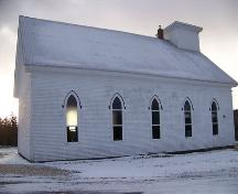 East facade, Kirk Memorial United Church, Aspen, N.S.; Heritage Division, NS Dept. of Tourism, Culture and Heritage, 2009