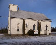West facade, Kirk Memorial United Church, Aspen, N.S.; Heritage Division, NS Dept. of Tourism, Culture and Heritage, 2009