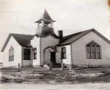 Front view circa 1940, Jubilee United Church, Port Hood Island, Nova Scotia; Courtesy of the Chestico Museum & Historical Society, Port Hood, Nova Scotia