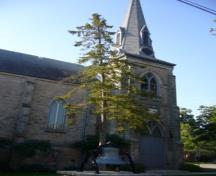 Of note is the 50-foot spire and bell tower.; Kirsten Pries, 2008.