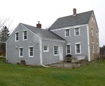Northeast elevation, Abraham Lent House, Tusket, NS; Heritage Division, NS Dept. of Tourism, Culture and Heritage, 2009