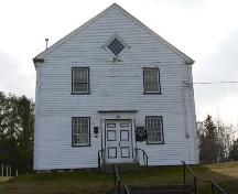 Façade, Gavelton Meeting House, Gavelton, NS, 2009.; Heritage Division, NS Dept. of Tourism, Culture & Heritage, 2009.