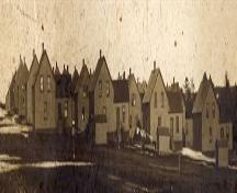 View of the Company Houses on the Company Road, Port Hood, Nova Scotia; Courtesy of the Chestico Museum & Historical Society