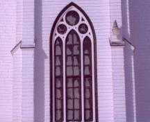 Detail of Gothic window on facade; Alberton Historical Preservation Foundation, 2008