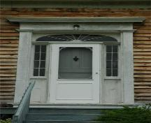 Central Door with Columns, Entablatures and Fanlight Transom, MacPhee House, Lochaber, Nova Scotia, 2009.; Heritage Division, N.S. Dept. of Tourism, Culture and Heritage, 2009.