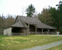 Exterior view of Stewart barn; Donald Luxton and Associates, 2004