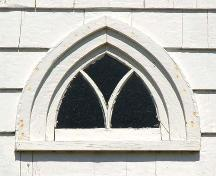 Central Window Detail, Tracadie United Baptist Church, Monastery, Nova Scotia, 2009.; Heritage Division, N.S. Dept. of Tourism, Culture and Heritage, 2009.
